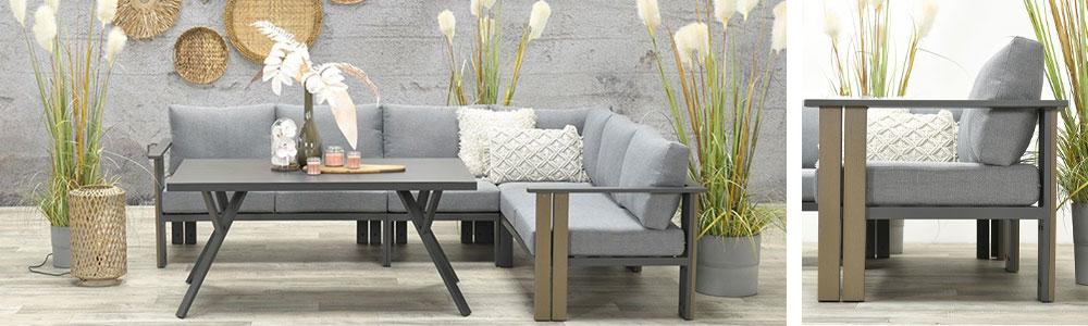 Brady aluminium lounge dining set - Tuinmeubelland 2021