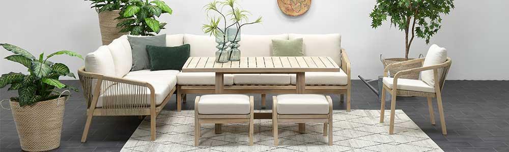 Touw lounge dining set Tuinmeubelland