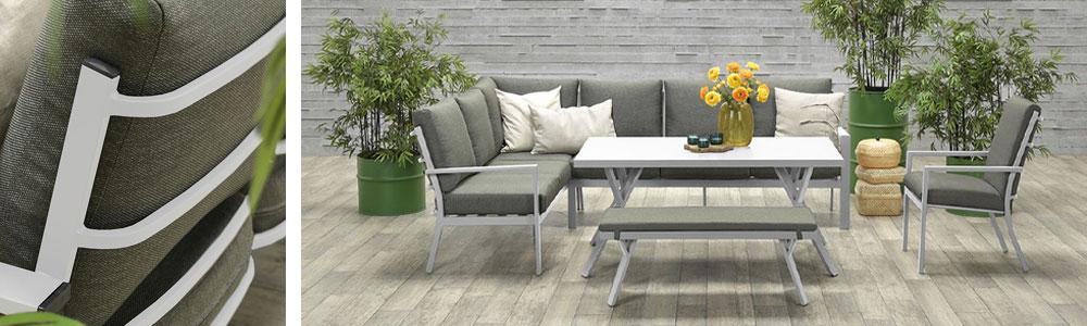 Senja aluminium lounge dining set - Tuinmeubelland 2021