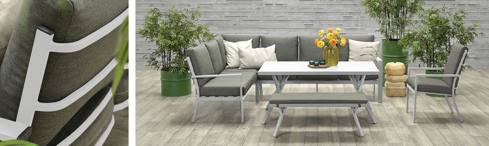 Senja aanbieding lounge dining set - Tuinmeubelland 2021