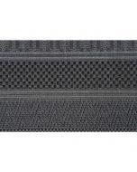 Buitenkleed Stripes donker grijs 160x230 cm