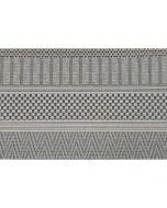 Buitenkleed Stripes licht grijs 160x230 cm