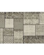 Garden Impressions Buitenkleed Blocko donker zand 200x290 cm Kunststof