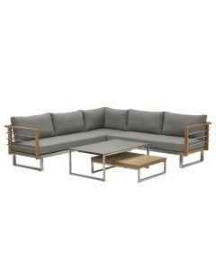 Covada loungeset 5-delig - warm grijs