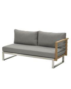 Covada open lounge bank links - warm grey