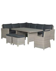 Norma lounge dining set 6-delig links - vintage willow