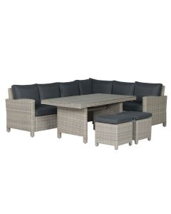 Norma lounge dining set 5-delig links - vintage willow