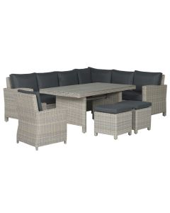 Norma lounge dining set 6-delig rechts - vintage willow
