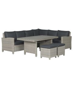 Norma lounge dining set 5-delig rechts - vintage willow