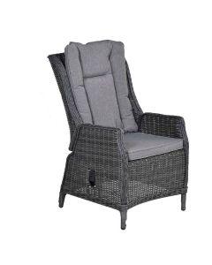 Marbella verstelbare fauteuil - donker grijs