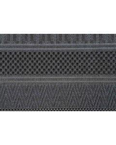 Buitenkleed Stripes donker grijs 120x170 cm