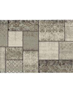 Garden Impressions Buitenkleed Blocko donker zand 120x170 cm Kunststof