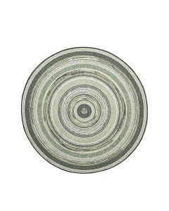Buitenkleed Stripes groen Ø160 cm