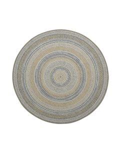 Buitenkleed Stripes oker/blauw Ø160 cm