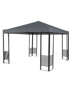 Garden Impressions Promo paviljoen royal grey met partytentdak grijs Polyester
