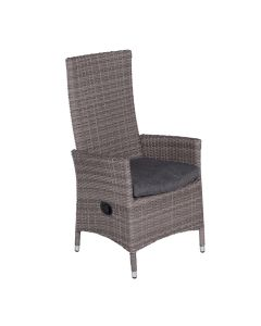 Garden Impressions Nice verstelbare stoel grijs Wicker