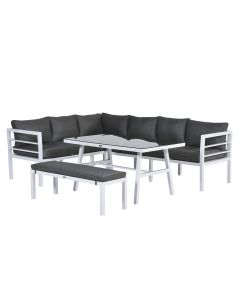 Blakes lounge dining set 4-delig - wit