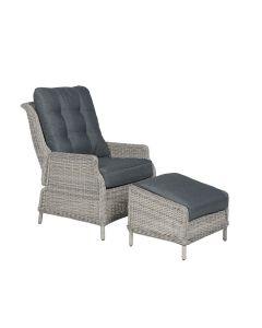 Santa Rosa relax loungestoel incl. voetenbank vintage willow