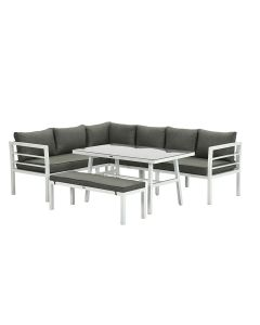 Blakes lounge dining set 4-delig - wit - mos groen