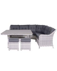 Nova lounge dining set 6-delig - licht grijs