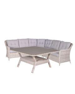 Nova lounge dining set 4-delig - passion willow