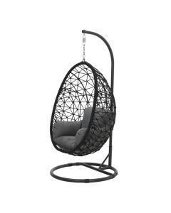 Panama hangstoel swing egg - rope zwart