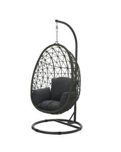 Hangstoel Panama swing egg - rope mos groen