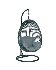 Panama hangstoel swing egg - zwart rotan