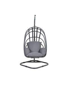 Suez hangstoel swing egg opvouwbaar - grijs