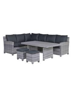 Alaska lounge dining set 5-delig links - grijs