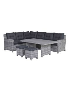 Alaska lounge dining set 5-delig links - grijs