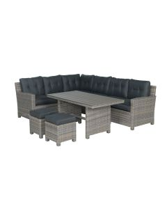 Alaska lounge dining set 5-delig links - vintage willow