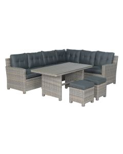 Alaska lounge dining set 5-delig rechts - vintage willow