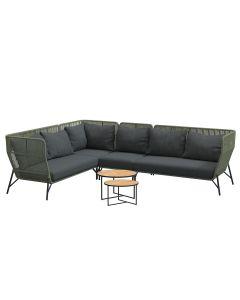 Altoro loungeset 6-delig - groen