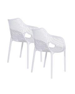 Air XL design tuinstoel wit - 2 stuks