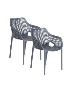 Air XL design tuinstoel donker grijs - 2 stuks