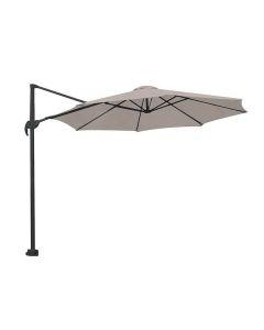 Hawaii zweefparasol S Ø300 - donker grijs/zand met 60 kg parasolvoet en parasolhoes