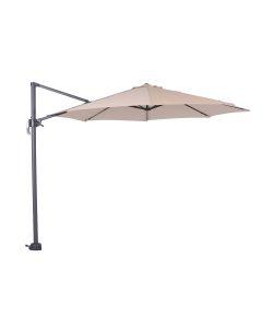Hawaii zweefparasol S Ø300 - donker grijs/ecru met 60 kg parasolvoet en parasolhoes