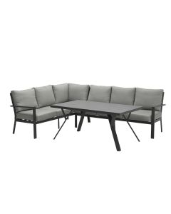 Senja lounge dining set 3-delig links - donker grijs
