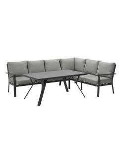 Senja lounge dining set 3-delig rechts - donker grijs
