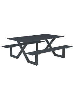 Cambria picknick set 180X170 - donker grijs