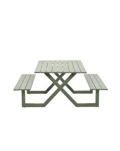 Cambria picknicktafel 180x170 cm aluminium - moss groen