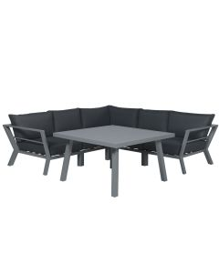 Larisa lounge dining set 4-delig - grijs