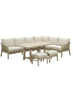 Alora lounge dining set 5-delig rechts - acacia