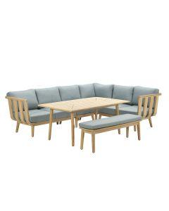 San Leone lounge dining set 6-delig - mint grijs