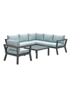 San Luis loungeset 4-delig - mint grijs