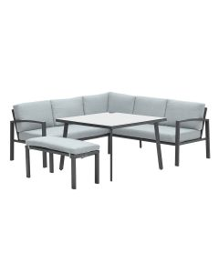 Tropea lounge dining set 5-delig - mint grijs