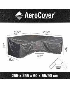Platinum AeroCover loungesethoes L-vorm Trapeze 255x255x90xH65/90 HB cm antraciet