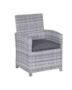 Alaska lounge dining stoel - grijs