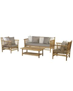 Bamboe loungeset - bamboo natural finish